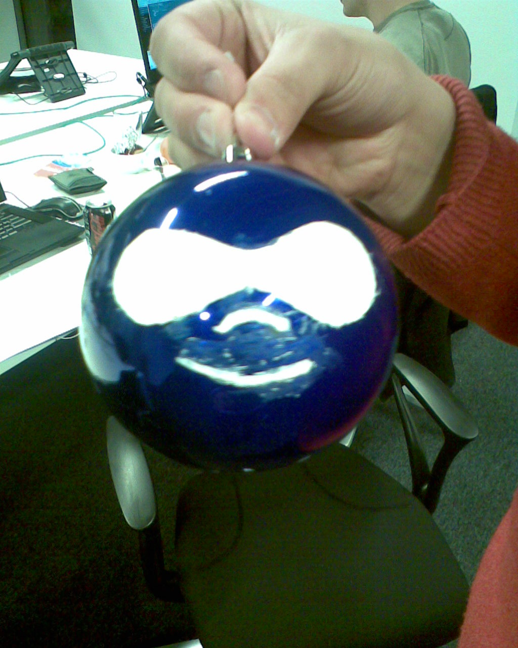 A finished drupal christmas ball